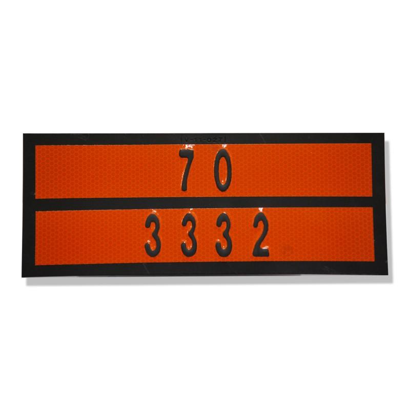 Panel naranja con numeración