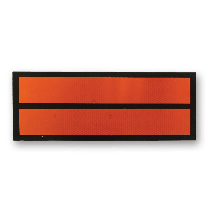 Panel naranja sin numeración