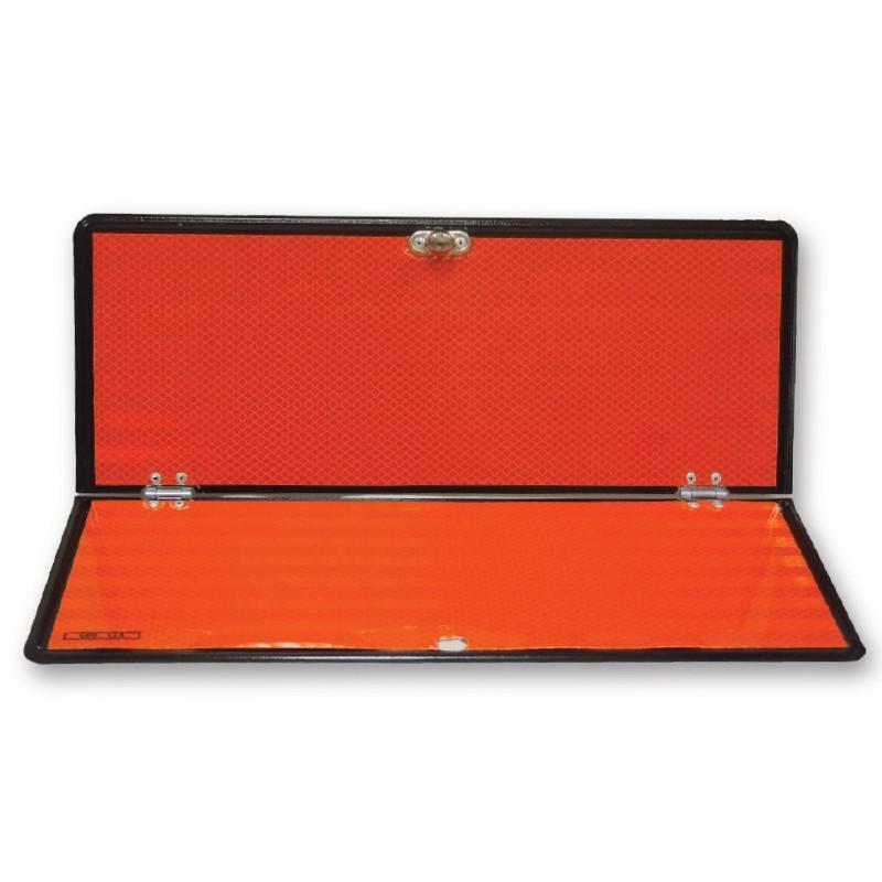 Panel naranja plegable sin numeración
